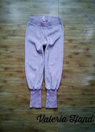Велюровые мягкие спортивные штаны - брюки - девочка - рост 98-104 см