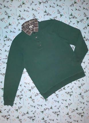 Стильный свитер поло с имитацией рубашки cotton trades, размер 48-50, дорогой бренд