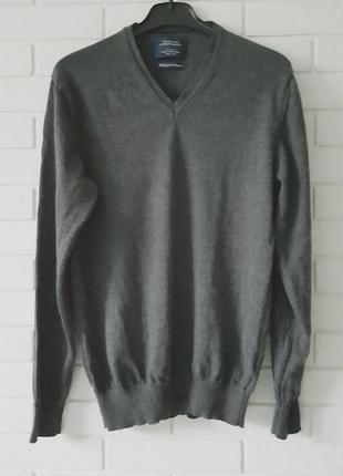 Серый джемпер из мериносовой шерсти