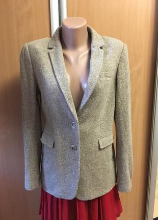 Пиджак жакет трикотаж в составе шерсть  размер 8