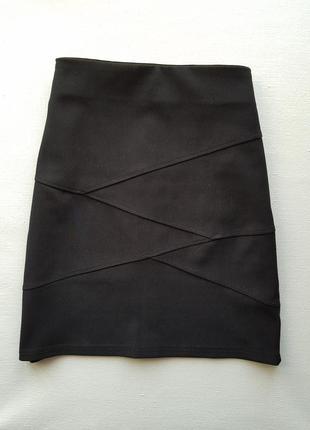 Стильная черная юбка,мини юбка,обтягивающая юбка трикотаж,юбка для школы и офиса