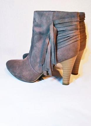 Утонченные ботинки/ботильоны/полусапожки с бахромой