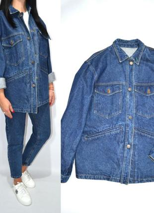 Куртка джинсовая  бойфренд кардиган оверсайз джинсовка benetton .