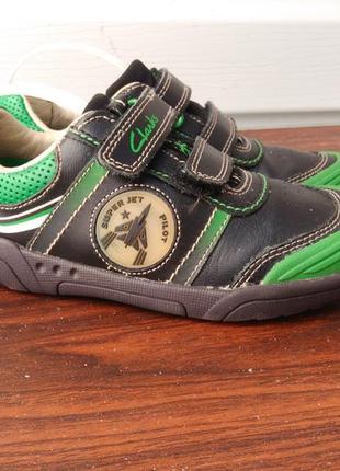 Кожаные кроссовки clarks jets,размер 27.5...