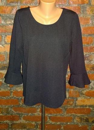 Блуза кофточка с акцентными рукавами воланами m&co2 фото