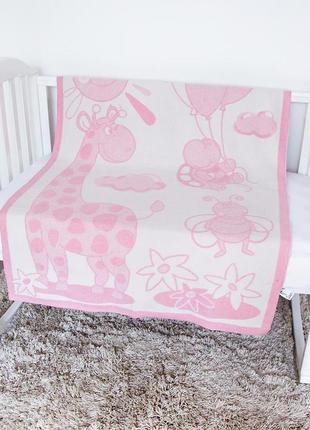 """Одеяло детское """"байковое"""" розовой"""