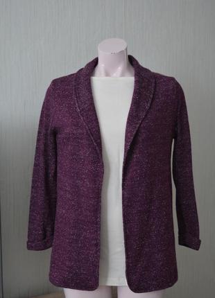 Кардиган, кофта, трикотажный пиджак ,жакет, люрекс