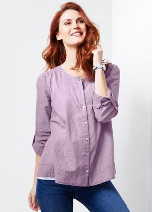 Лавандовая блуза-сорочка из органического хлопка, tchibo(германия), евро 36 = 42 наш