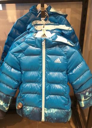Новый пуховик пальто adidas &disney frozen холодное сердце размеры 104,110,116 рост