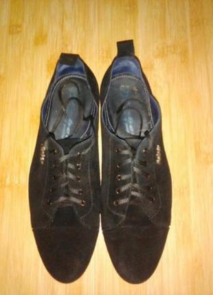 Faber замшевые туфли почти даром