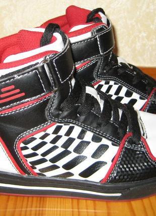 Спортивные демисезонные высокие кеды кроссовки ботинки lejon 32р. 21.5 см.