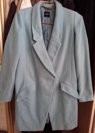 Самое  нежнейшее пальто  небесного цвета.