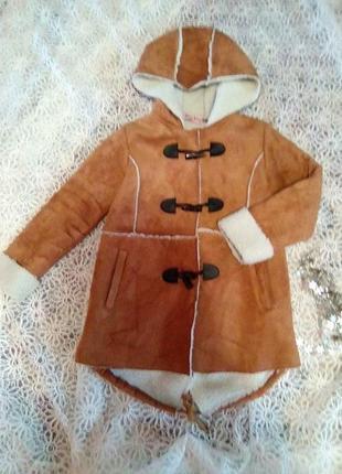 Демисезонная куртка-дублёнка для девочек