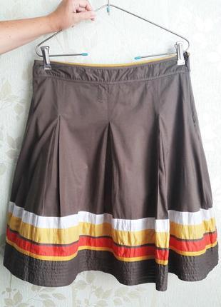 Отдам в подарок к любой покупке! цветная юбка из хлопка в складку р.12