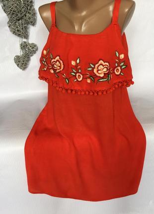 Шикарное платье вышивкой papaya