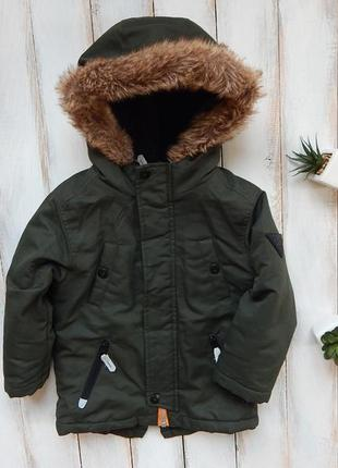 Rebel стильная  зимняя куртка-парка на мальчика  18-24 мес