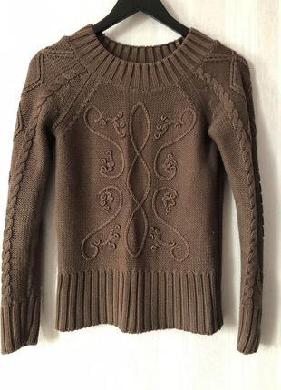Коричневый свитер reserved