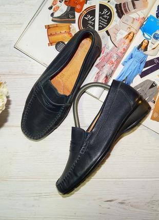 Hans hermann! кожа! комфортные туфли, мокасины на низком ходу