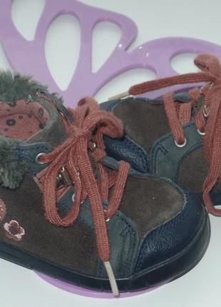 Ботинки кларкс деми р 20.5(4.5) стелька12.9см нат кожа