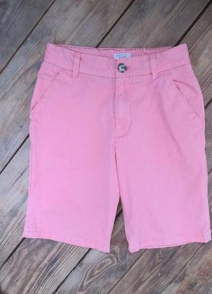 Стильные шорты next шорты чино цвет коралловый, на 10-11 лет, сост. отличное