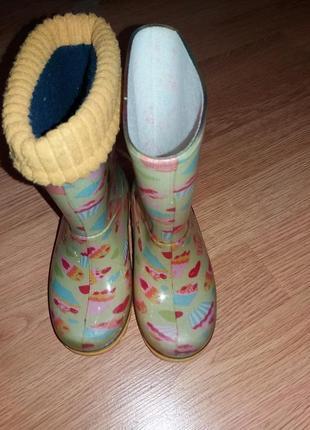 Резиновые сапоги для девочки demar2