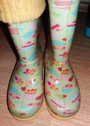 Резиновые сапоги для девочки demar4