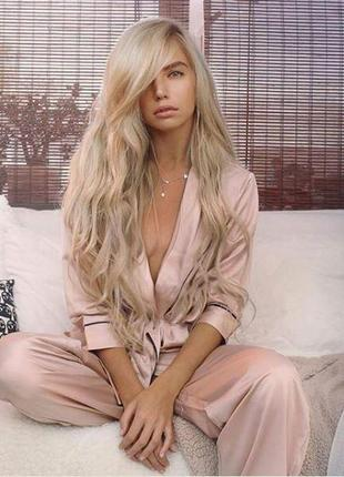 Просто невероятный пудровый пижамный комплект пижама asos