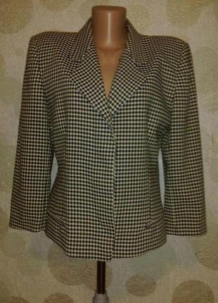 Стильный шерстяной жакет пиджак винтаж