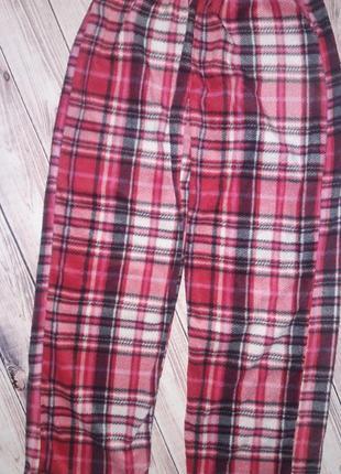 Мягенькие пижамные штаны в клетку