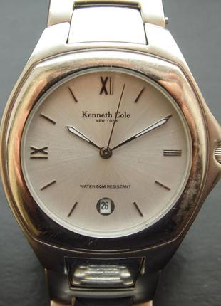 Kenneth cole мужские часы из сша мех. золоченая miyota с датой