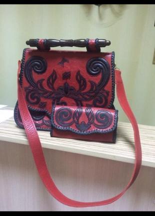 Дизайнерская сумка, кожа
