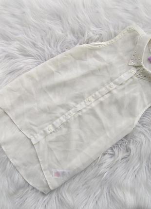 Стильная блузка рубашка с коротким рукавом f&f