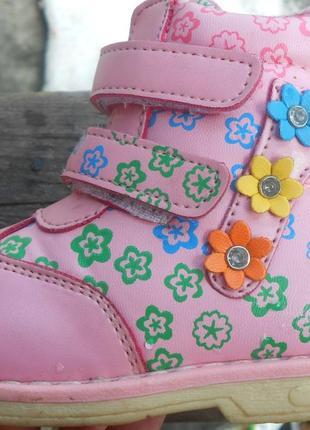 Сапоги деми весна осень на девочку 22р каблук томаса cтелька 13см