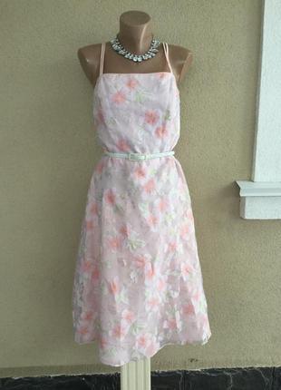 Красивое,романтическое платье вечернее,сарафан,открытая спина,органза,