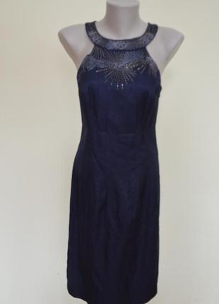 Супер бомбезное платье с вышивкой натуральное от moonsoon