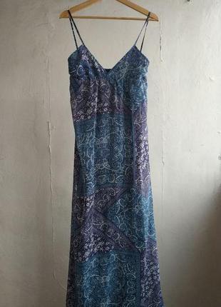 Платье в пол mango