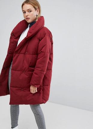 Эксклюзивное дутое oversize пальто monki