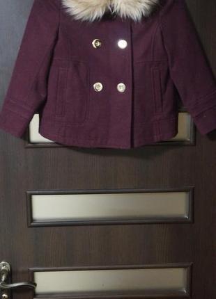 Шикарное пальто george 7-8лет(122-128)