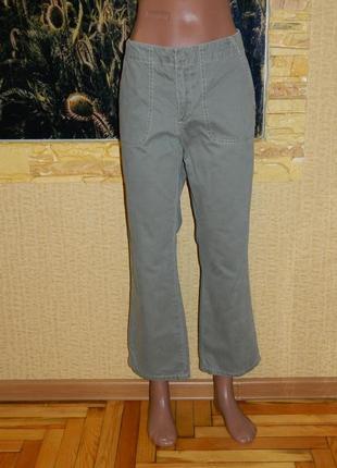 Штаны брюки джинсы женские цвет светлая оливка размер 46-48 old navy.