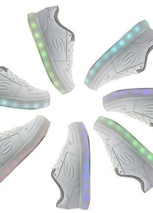 Кроссовки с подсветкой skechers energy light р.37-37,51