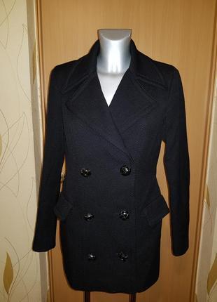 Двубортное  пальто с английским воротником massimo dutti