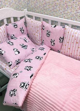 Бортики в кроватку для малышки