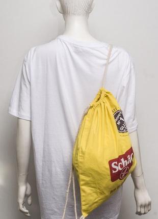Сумка-мешок, рюкзак на веревках
