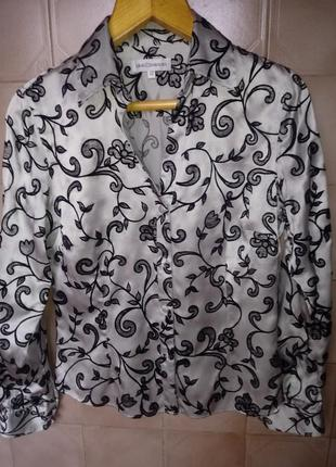 Шикарная рубашка из шелка gray osbourn