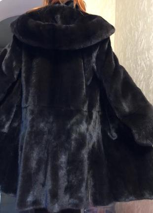 Шуба норковая blackglama, размер 44-46 р, капюшон!
