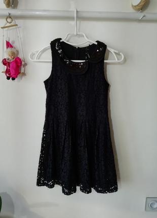 Нарядное кружевное платье 10лет next