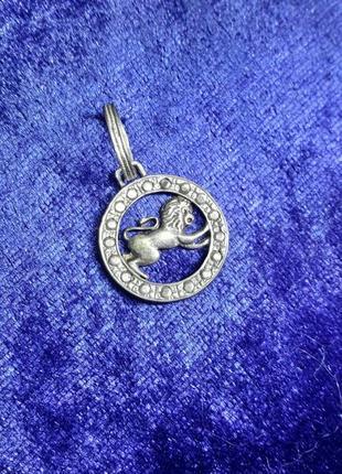 Кулон лев знак зодиака серебро 925 пробы