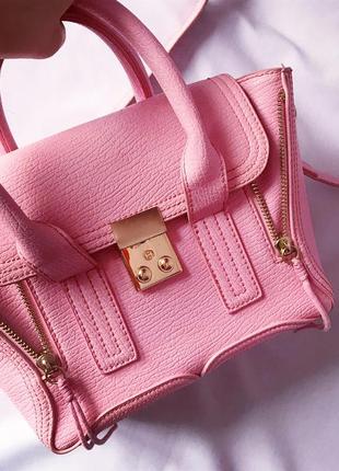 Нереальная эксклюзивная мини сумочка пудровая розовая светлорозовая phillip lim