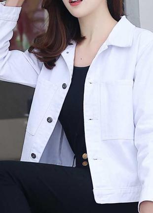 Актуальная льнянная курточка под джинс