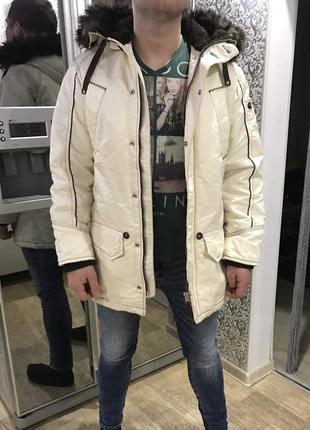 Куртка парка вощеная стильная